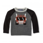 Baby And Toddler Boys Long Raglan Sleeve Graphic Sweater