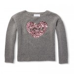 Girls Sequin Graphic Metallic Sweater