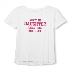 Womens Mommy And Me Short Sleeve 'Ain't No Daughter Like The One I Got' Matching Family Graphic Tee