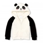 Baby And Toddler Girls Active Faux Fur Panda Hoodie