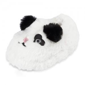 Toddler Girls Faux Fur Panda Slippers