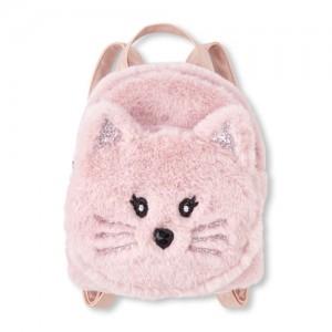 Girls Faux Fur Cat Mini Backpack