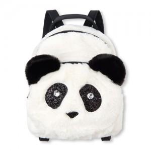 Girls Faux Fur Panda Mini Backpack