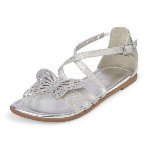 Girls Glitter Butterfly Sandals