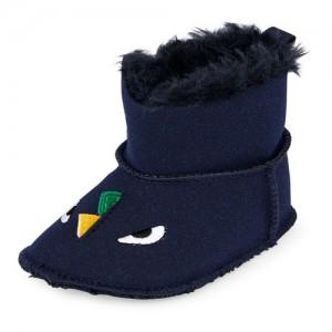 Baby Boys Faux Fur Dino Boot