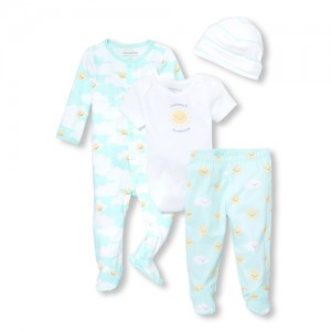 Unisex Baby Sunny Family 4-Piece Take Me Home Set