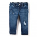 Baby And Toddler Girls Woven Distressed Jeggings
