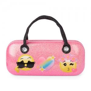 Girls Emoji Glitter Sunglasses Case