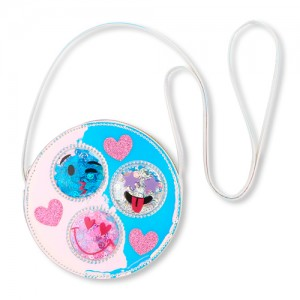 Girls Holographic Emoji Confetti Shaker Bag
