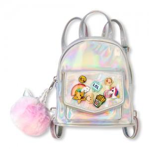 Girls Holographic Unicorn Mini Backpack
