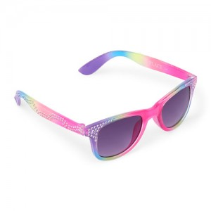 Toddler Girls Faceted Retro Sunglasses