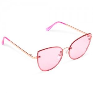 Girls Frameless Cat Eye Sunglasses