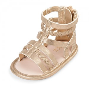 Baby Girls Metallic Gladiator Sandals