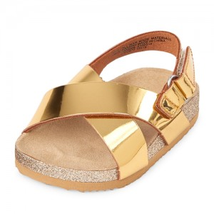 Baby Girls Metallic Sandals