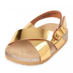 Baby Girls Metallic Sandals