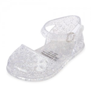 Baby Girls Glitter Cut Out Jelly Ballet Flats