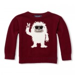 Baby And Toddler Boys Long Sleeve Graphic Intarsia Sweater