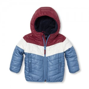 Baby And Toddler Boys Warmcore PrimaLoft Faux Sherpa Lined Puffer Jacket