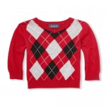 Baby And Toddler Boys Long Sleeve Argyle V-Neck Sweater
