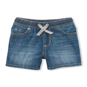 Baby And Toddler Boys Pull-On Denim Jogger Shorts