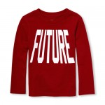 Baby And Toddler Boys Long Sleeve 'Future' Graphic Tee
