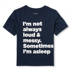 Baby And Toddler Boys Long Sleeve 'I'm Not Always Loud' Graphic Tee