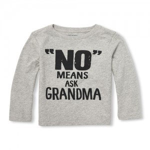 Baby And Toddler Boys Long Sleeve No Means Ask Grandma Graphic Tee