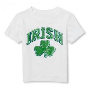 Baby And Toddler Boys Short Sleeve Irish Shamrock Graphic Tee