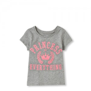 Baby And Toddler Girls Matching Family Short Sleeve 'Princess Of Everything' Graphic Tee