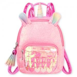 Girls Glitter Unicorn And Heart Mini Backpack