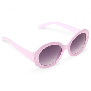 Girls Glitter Oval Sunglasses