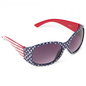 Girls Americana Faceted Oval Sunglasses