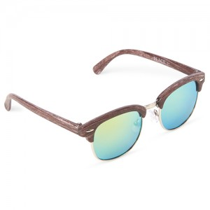 Boys Faux Wood Retro Sunglasses