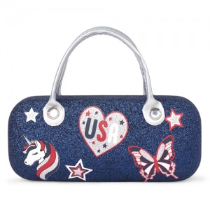 Girls Americana Glitter Unicorn Sunglasses Case