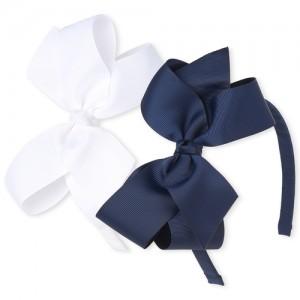 Girls Uniform Bow Headband 2-Pack
