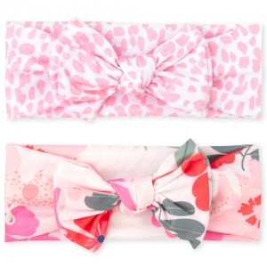 Baby Girls Floral Print Knotted Bow Headwrap 2-Pack