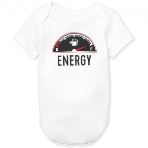 Baby Boys Dad And Me Short Sleeve 'Energy' Matching Graphic Bodysuit