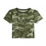 Baby And Toddler Boys Matchables Short Sleeve Camo Top