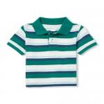 Baby And Toddler Boys Short Sleeve Striped Pique Polo