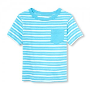 Baby And Toddler Boys Matchables Short Sleeve Striped Pocket Top