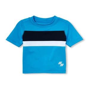 Baby and Toddler Boys PLACE Sport Short Sleeve Colorblock Rashguard