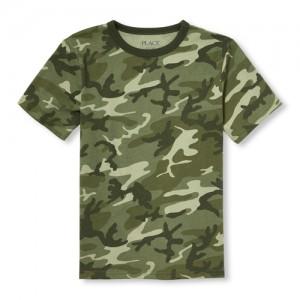 Boys Matchables Short Sleeve Camo Top