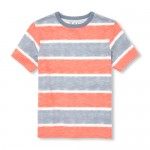 Boys Matchables Short Sleeve Tie-Dye Striped Top