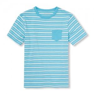 Boys Matchables Short Sleeve Striped Pocket Top