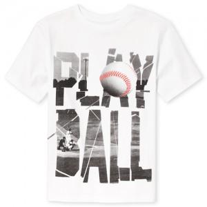 Boys Short Sleeve 'Play Ball' Baseball Graphic Tee