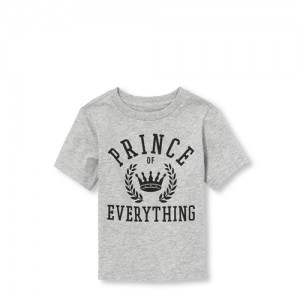 Baby And Toddler Boys Matching Family Short Sleeve 'Prince Of Everything' Graphic Tee