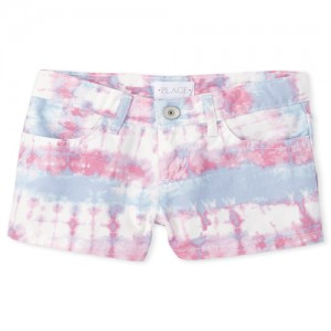 Girls Tie Dye Woven Shortie Shorts