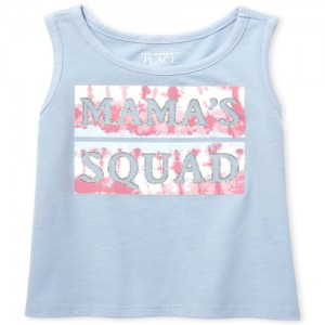 Baby And Toddler Girls Matchables Glitter Graphic Tank Top