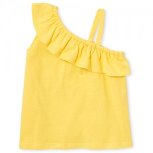 Baby And Toddler Girls Matchables Sleeveless One Shoulder Tank Top