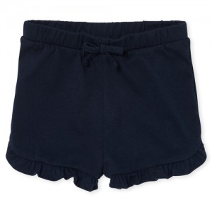 Baby And Toddler Girls Matchables Knit Ruffle Hem Shorts